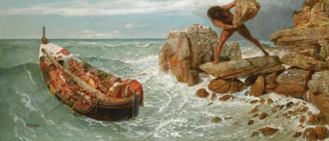 odysseus und polyphem odysseus and polyphemus by arnold böcklin the elder