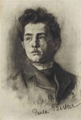 portrait of a young man by paula modersohn becker