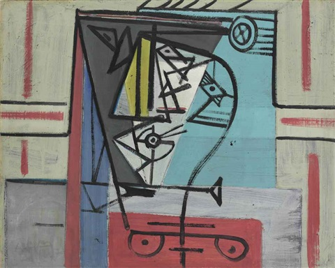 untitled abstract by wifredo lam