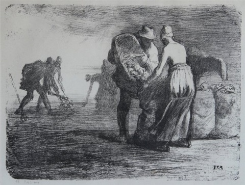 potato gatherers by jean françois millet