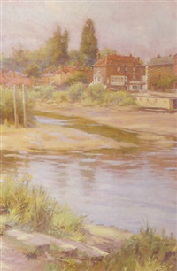 the thames at brentford by harland fisher