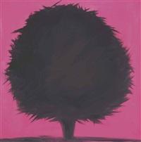 tree (purple beech, cushining, early summer, 7-24-13, 9 pm) by ann craven