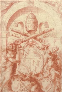 the arms of pope adrian vi by michelangelo anselmi