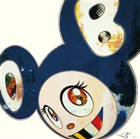 and then x6.blue by takashi murakami