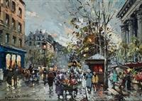 the flower market at la madeleine by antoine blanchard