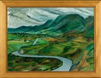 nelson landscape by leo bensemann