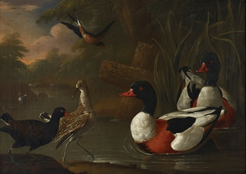 landscape with ducks by charles collins
