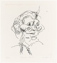 gerda boehm (from six etchings of heads) by frank auerbach