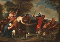 moïse et les filles de jethro by andrea sacchi