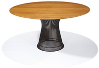 dinette set (5) model nos.-a (chair) and 3716t (table) by warren platner