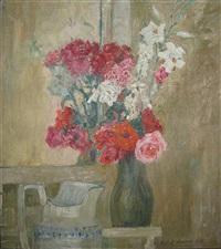 stilleven met bloemen by robert aerens
