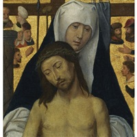 the virgin showing the man of sorrows by hans memling