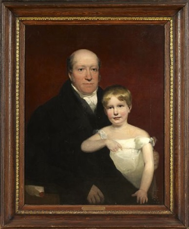 portrait of roger aytoun and his son william edmundstoune aytoun at the age of four by john watson gordon