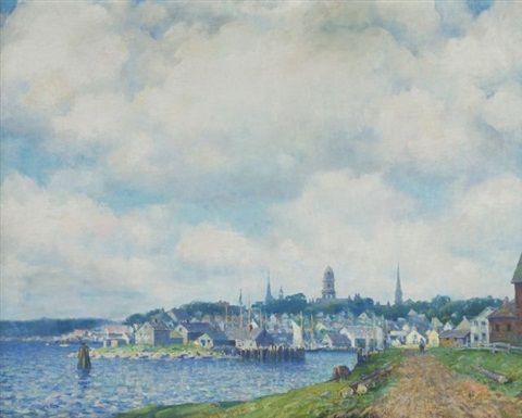 new england coast town by carl j nordell