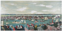 new york city from brooklyn heights 1830 by maxwell mays
