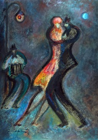 tango con pareja by felipe de la fuente
