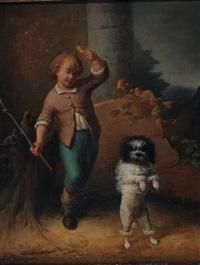 jeune garçon et son chien by belgian school (19)