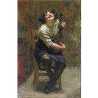 la giovane musicista by attilio andreoli