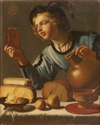 le jeune buveur by willem van honthorst