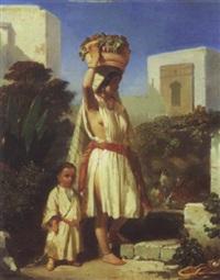 orientale et son enfant by aurelio tolosa alsina