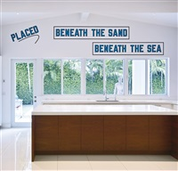 placed beneath the sand beneath the sea by lawrence weiner