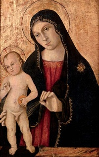 the madonna and child by romano antoniazzo