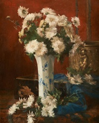 guéridon fleuri by victor fontaine