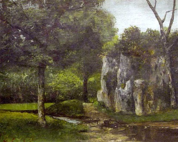 Bord de rivière dans le Jura français by Gustave Courbet on artnet