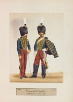 album photographique des uniformes de l'armée française (album w/66 works) by louise laffon and alexis godillot