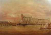 leith harbour by scottish school (19)