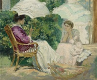 chatting, also known as causerie by rupert bunny