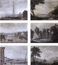 veduta del lago di garda (+ 11 others; 12 works) by domenico macanzoni