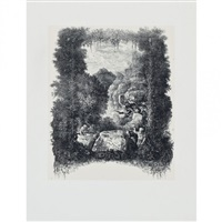 frontispice pour fables et contes par hippolyte thierry-faletans by rodolphe bresdin