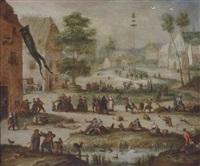 a village kermesse by marten van valkenborch the elder