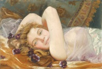 odalisque blonde by henry léon jacquet