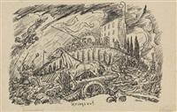 14 bätter: aus traumland i/ii und 10 kleine lithografische zeichnungen (14 works) by alfred kubin