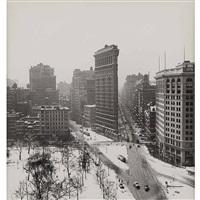 flatiron in winter by rudy burckhardt