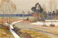 woodland thaw by vasili (vladimir) vasilievich perepletchikov