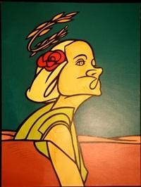 femme à la couronne de blé by adami