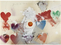 untitled (hearts and tomato) by jim dine