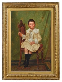 portrait of a young boy by john george brown