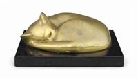 sleeping cat by william zorach