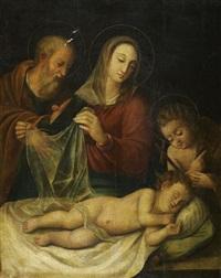 le sommeil de l'enfant jésus avec saint joseph et saint jean baptiste by italian school (16)