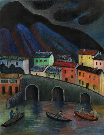 nighttime fishing in ascona by marianne werefkin