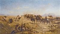 caravane arabe by eugène fromentin