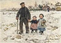 a winter walk with grandpa by johann jan zoetelief tromp