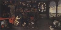 peintre dans un cabinet d'amateur ou allégorie de la peinture by hieronymus francken the elder