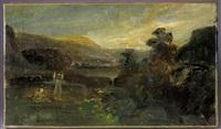 paysage animé by paul huet
