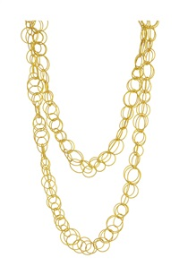gold hawaii longchain necklace by buccellati