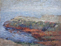 cote rocheuse by claude monet